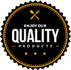 Enjoy our quality products badge